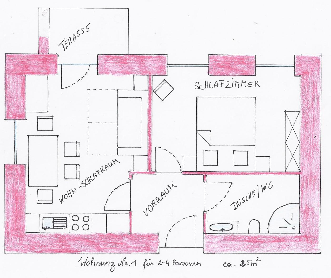 ferienwohnung 1 f r 2 bis 4 personen im haus sebastian in serfaus ferienwohnungen f r 2 10. Black Bedroom Furniture Sets. Home Design Ideas