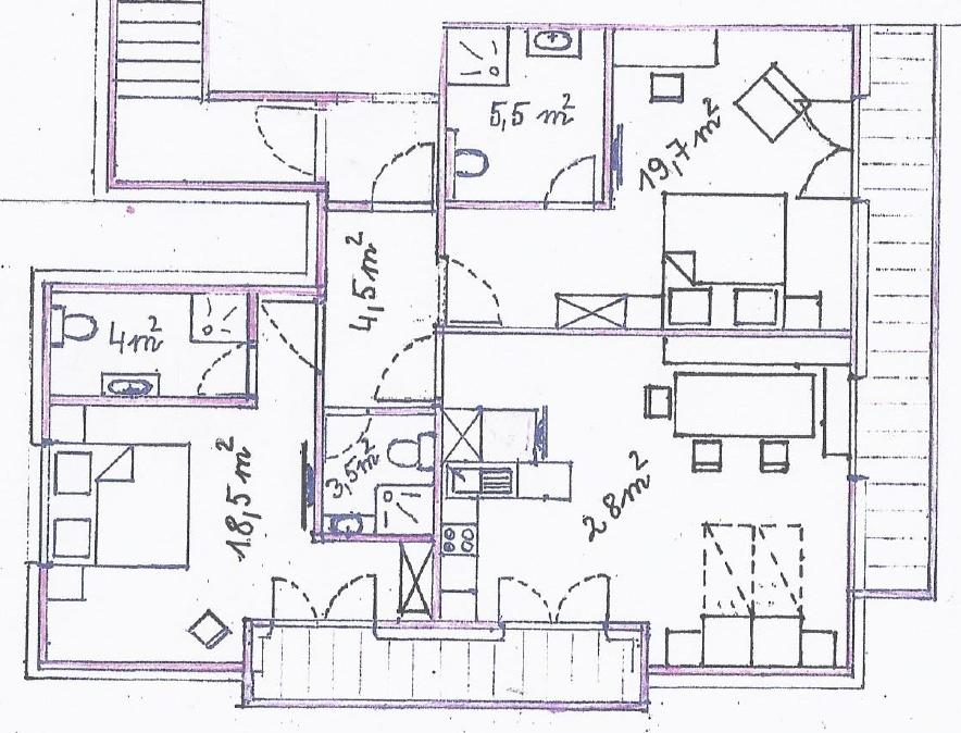 ferienwohnung 5 f r 4 bis 6 personen im haus sebastian in serfaus ferienwohnungen f r 2 10. Black Bedroom Furniture Sets. Home Design Ideas